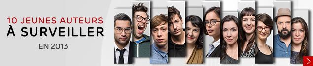 10 jeunes auteurs à surveiller en 2013