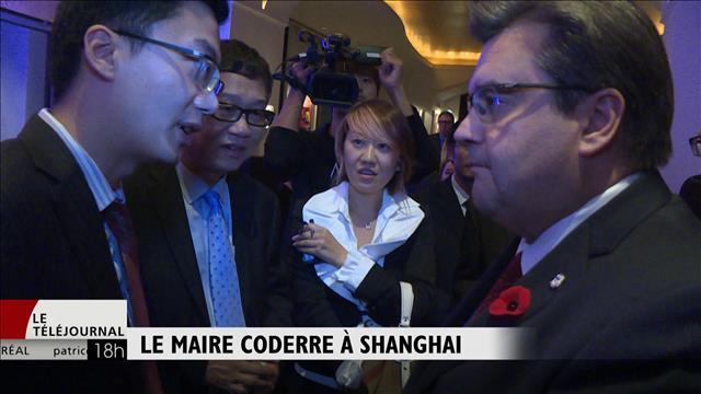 Le maire Coderre en  mission à Shanghai