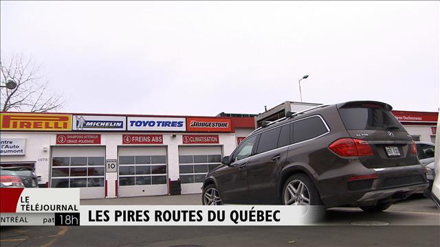 Les pires routes du Québec