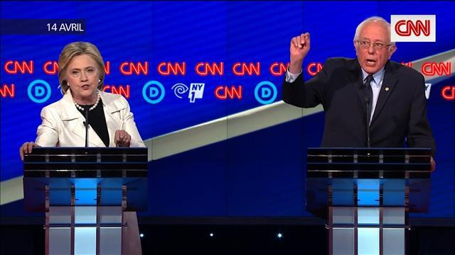 La bataille entre Clinton et Sanders dans l'État de New York