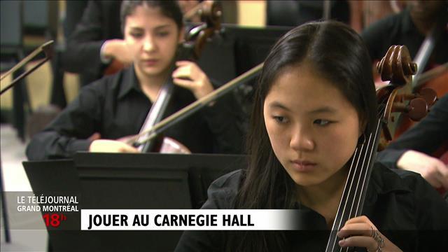 Des élèves montréalais au Carnegie Hall : reportage d'Anne-Louise Despatie