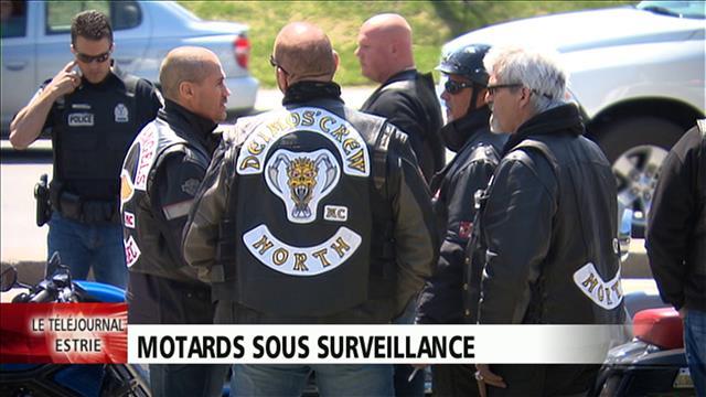 Motards sous surveillance à Sherbrooke   ICI Radio-Canada ca