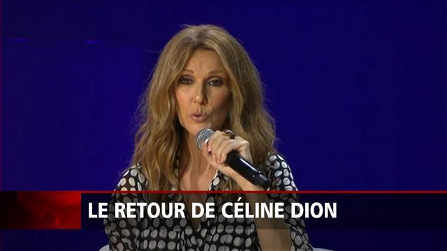 Céline Dion revient sur scène