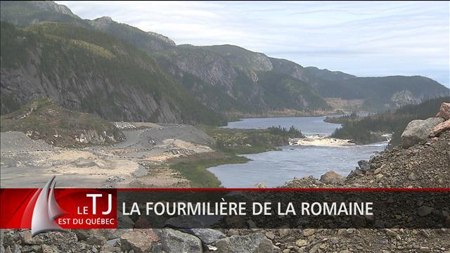 Le chantier du barrage Romaine-1 en avance