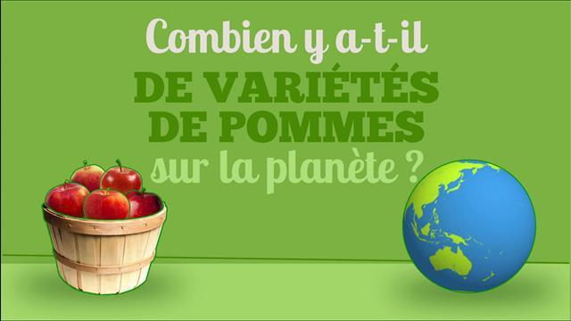 Combien de variétés de pommes existe-t-il?