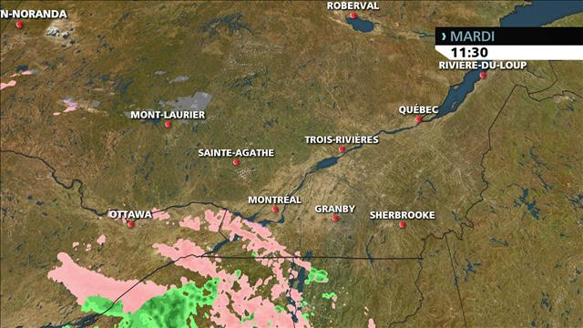 Avertissement de pluie verglaçante au Québec et en Ontario