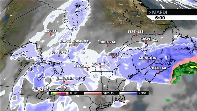 Baisse des températures au Québec, hausse dans l'Ouest et avis de poudrerie