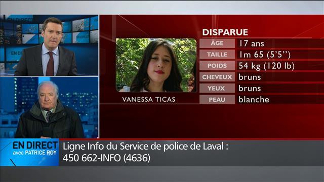 Nouvelle fugue : la police de Laval recherche Vanessa Ticas