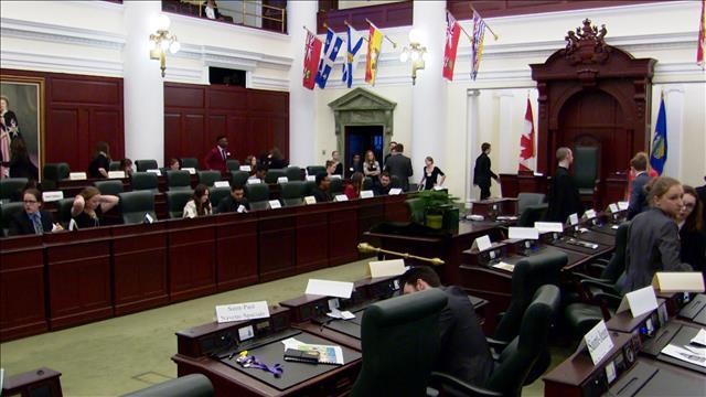 Le 25e parlement jeunesse de l'Alberta