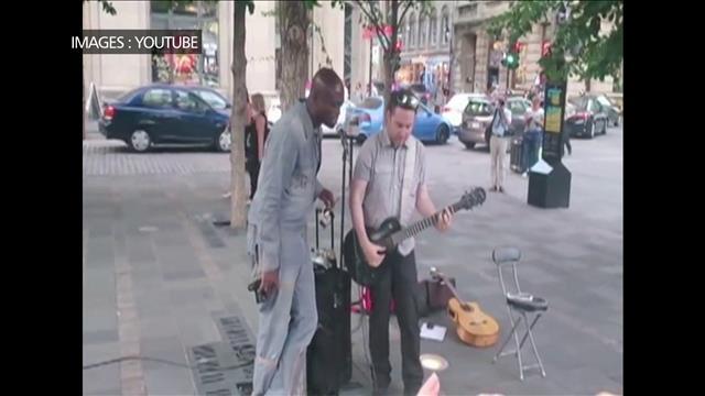 Le chanteur Seal s'improvise musicien de rue à Montréal