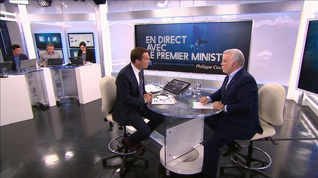 En direct avec le premier ministre : Philippe Couillard répond aux questions de Patrice Roy