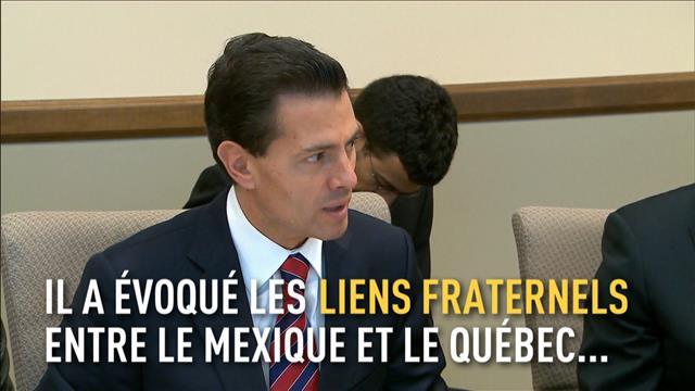 Le président du Mexique à Québec