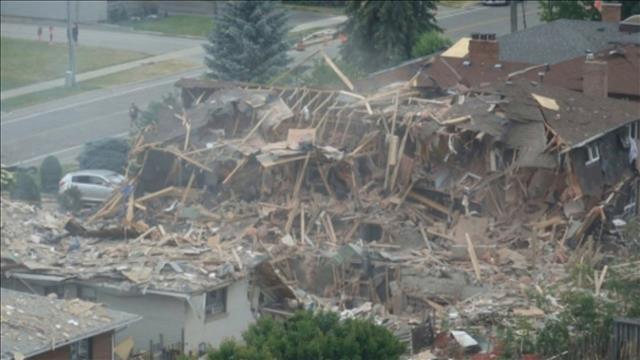 Une maison rasée dans une explosion à Mississauga
