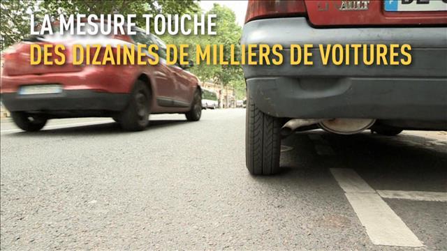 Pollution: les vieilles voitures interdites à Paris