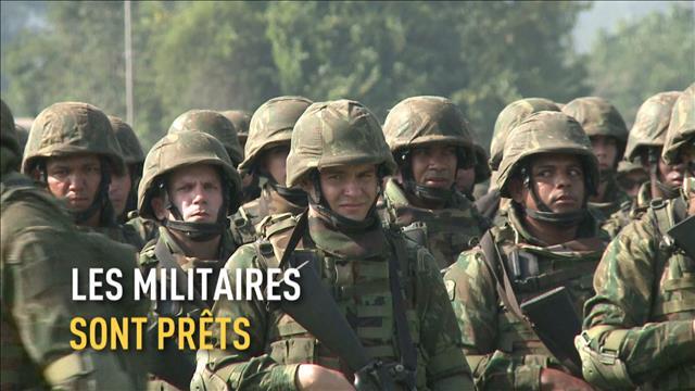 Les militaires du Brésil sont prêts pour lesJO