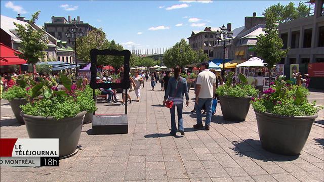 Les terrasses au centre de la place Jacques-Cartier contestées