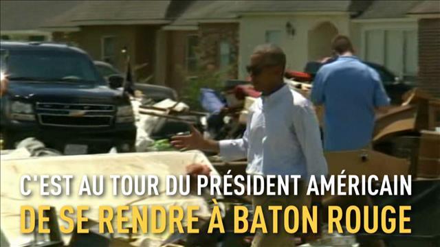 Barack Obama arrive en Louisiane après les inondations