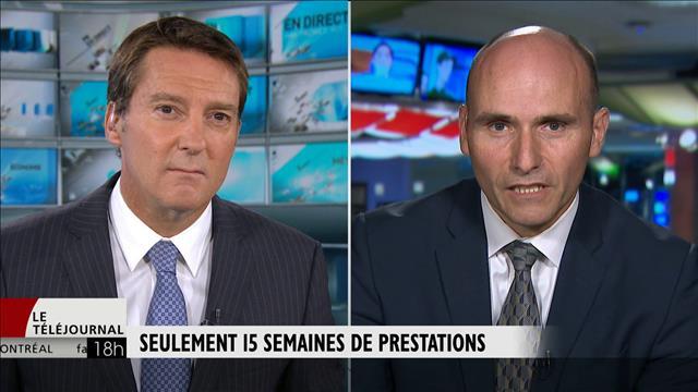 15 semaines de prestations : entrevue avec le ministre Duclos