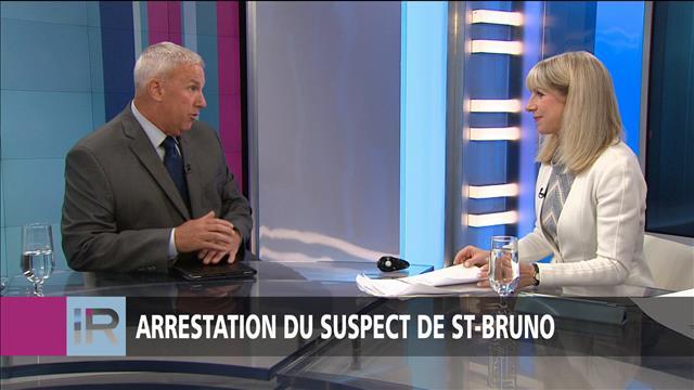 Arrestation du suspect à Saint-Bruno