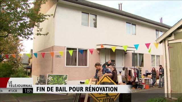 Un avis de rénoviction oblige huit familles à quitter leurs maisons