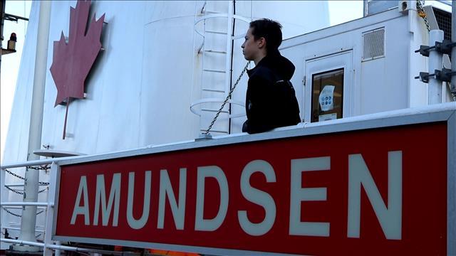Sur le brise-glace Admundsen à 16 ans