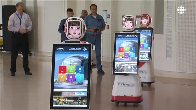 Des robots à l'aéroport de San José