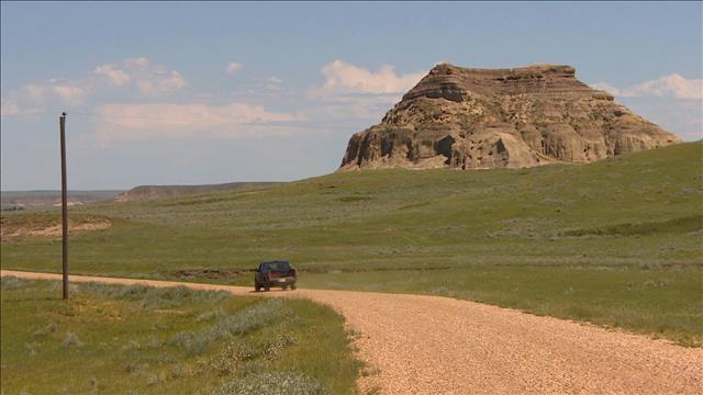 Castle Butte, un vestige rocheux dans le sud de la Saskatchewan