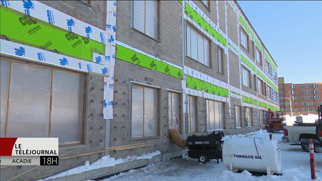 La construction de la future école régional du Restigouche au Nouveau-Brunswick progresse