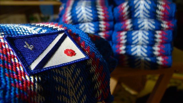 Une ceinture fléchée aux couleurs du drapeau franco-albertain