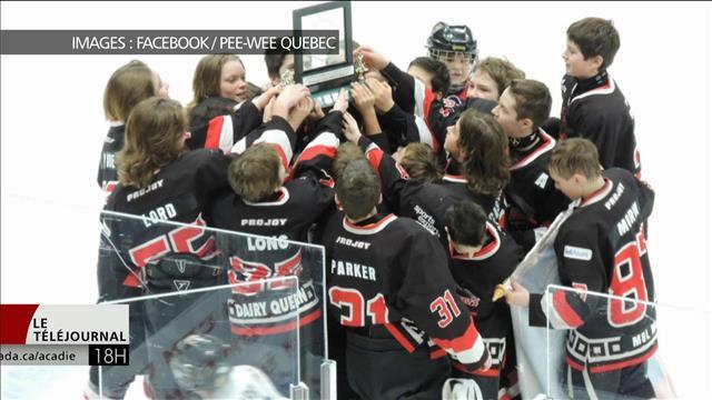 La victoire d'une équipe pee-wee du Nouveau-Brunswick dans un tournoi au Québec fait sourciller