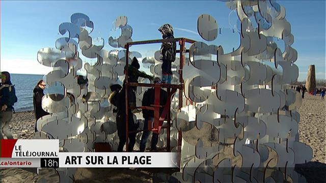 Winter stations : de l'art public sur la plage de Toronto en hiver