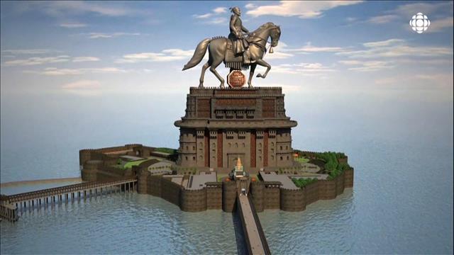 Construction de la plus grande statue du monde en Inde