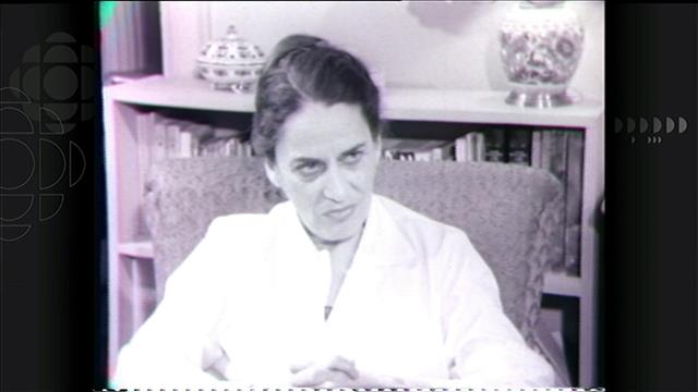 L'écrivaine se raconte dans une entrevue diffusée en 1961