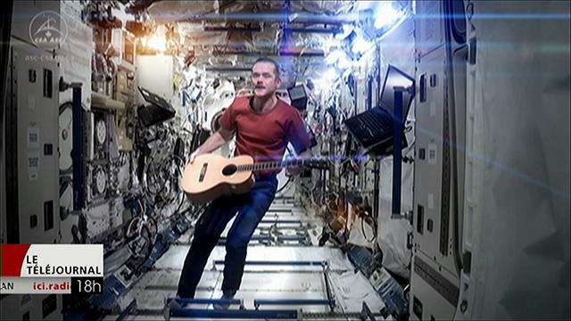 L'astronaute canadien Chris Hadfield à Saskatoon