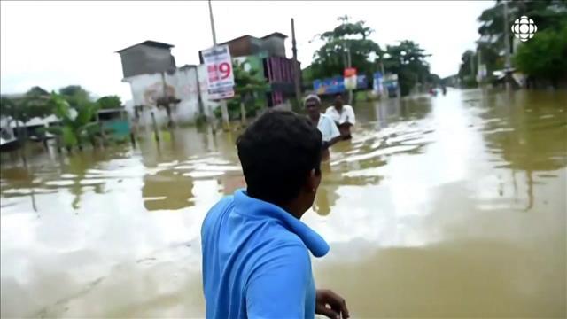Des inondations meurtrières au Sri Lanka