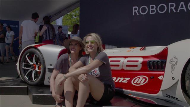 Isabelle et Pascale à la Formule E