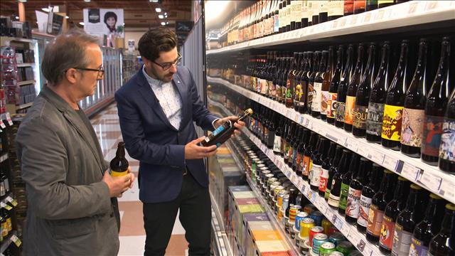 Les bières de microbrasseries en épicerie