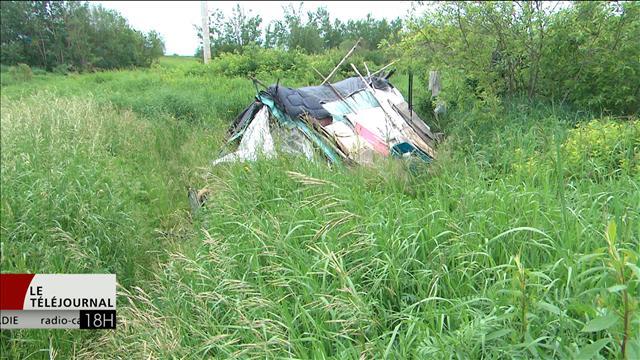 Campements pour itinérants à Moncton : un problème social