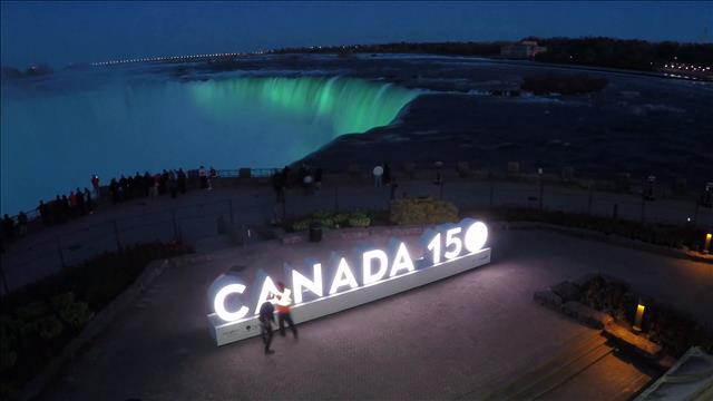 Les chutes Niagara, un symbole canadien