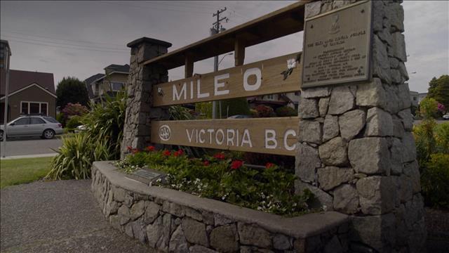 Le Mile 0 sur l'ile de Vancouver
