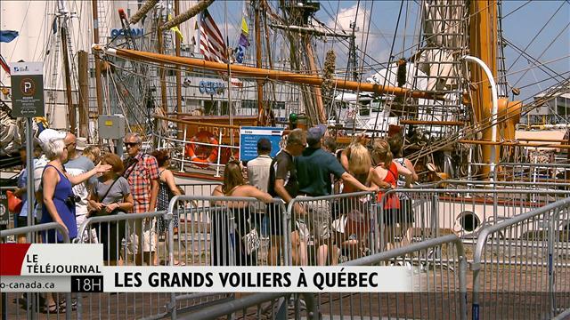 38 grands voiliers accostent à Québec