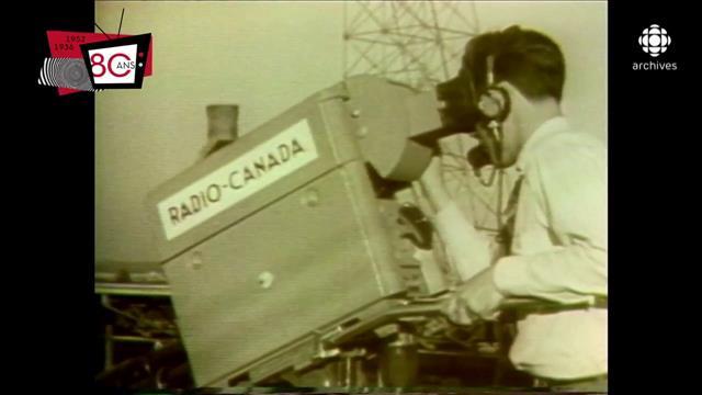 Les débuts de la télévision avec la diffusion de la première émission