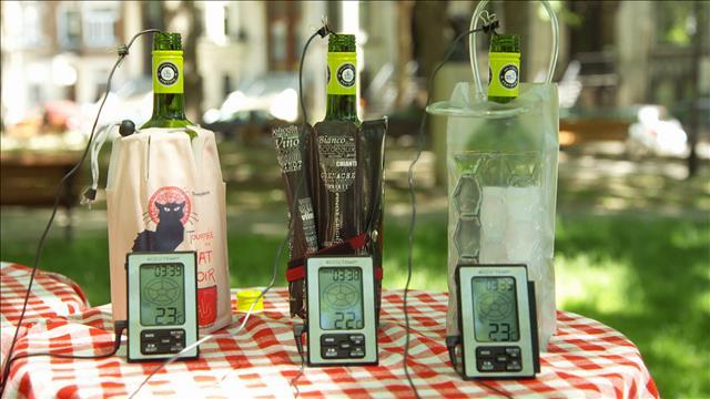 Les sacs à vin réfrigérants au banc d'essai