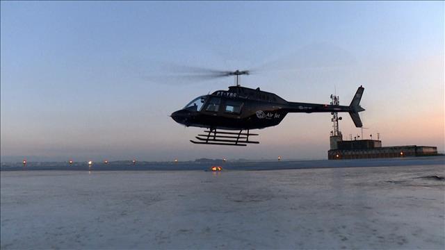 Utiliser un hélicoptère pour éviter les bouchons de circulation