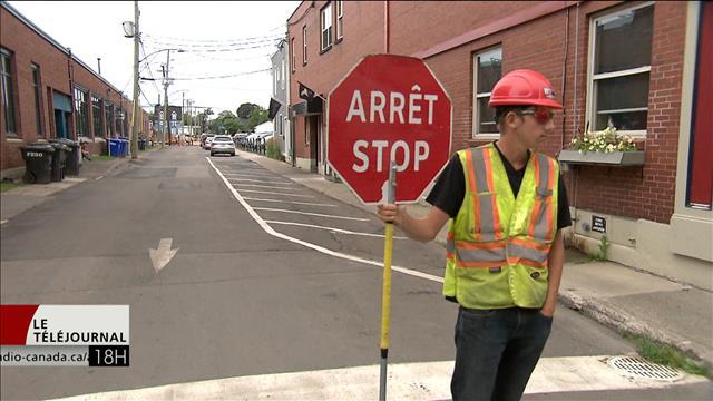 Des travaux de construction qui dérangent à Moncton