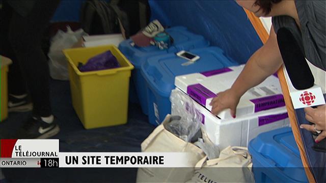 Visite d'un site d'injection supervisée temporaire à Toronto