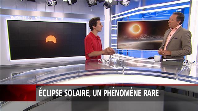 Éclipse solaire, un phénomène rare