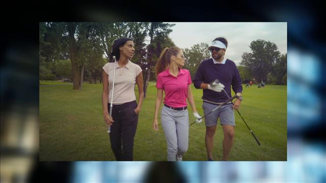 Maripier Morin donne une leçon de golf