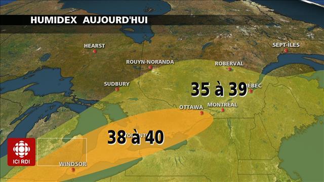 Records de chaleur sur le sud du Québec et de l'Ontario