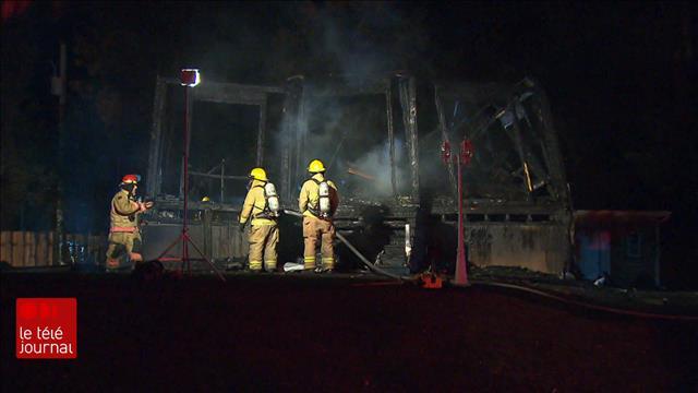 Un incendie mortel sème la consternation à Dunham, en Montérégie